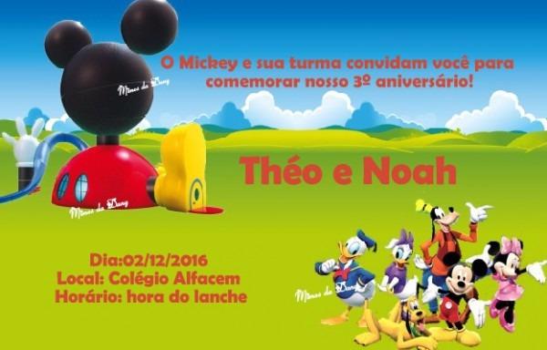 Convite Casa Do Mickey No Elo7