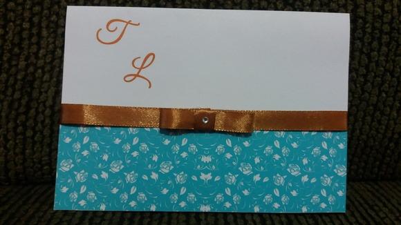 Convite Casamento Azul Tiffany E Dourado No Elo7