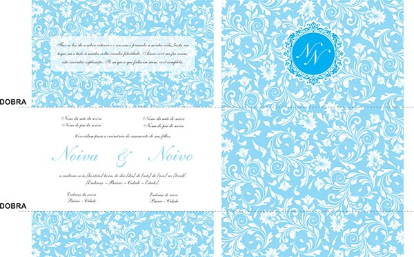 Convite De Casamento Com Monograma (download