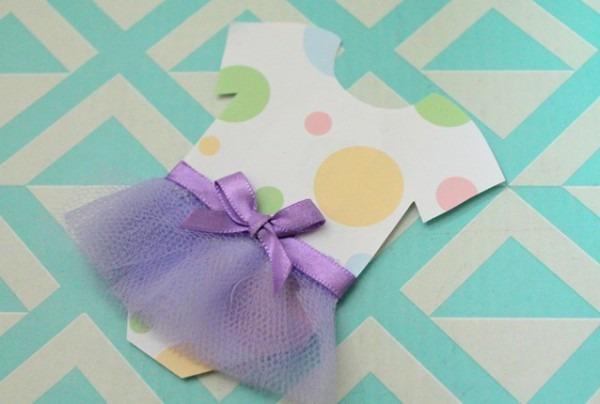 Convite Chá De Bebê Menina  Faça Você Mesmo