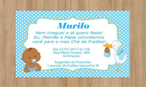 Convite Cha De Fraudas Tamanho 7x10