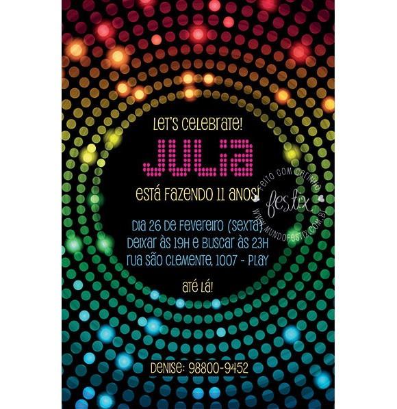 Convite Discoteca Digital No Elo7