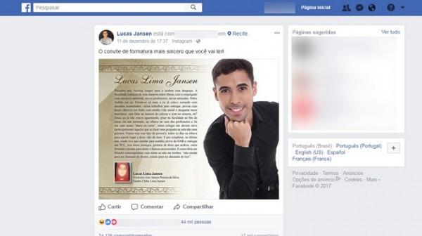 Convite De Formatura Com Relato Sincero Sobre 'perrengues' Da Vida