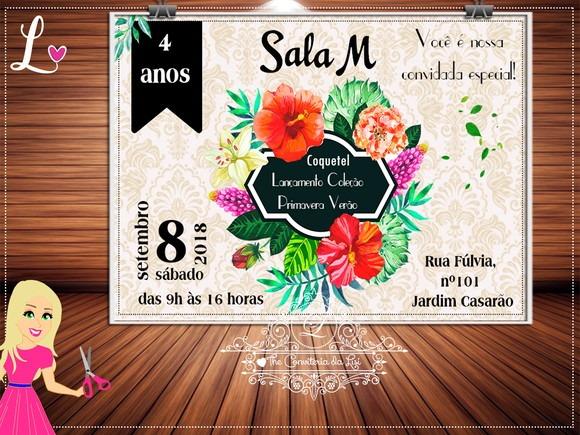 Convite Coquetel Primavera Verao