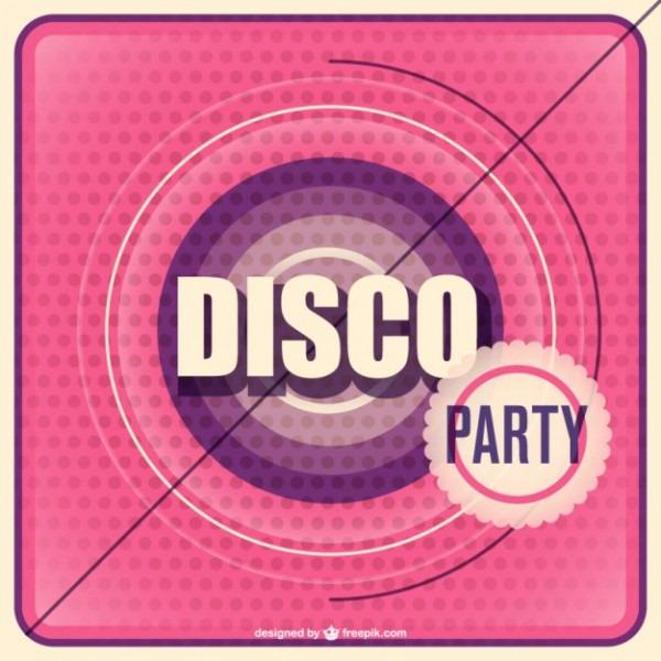 Convite Da Festa De Discoteca Vetor
