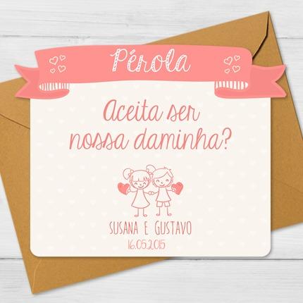 Convite Daminha E Pajem