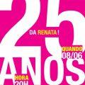 Convite De Aniversario 25 Anos