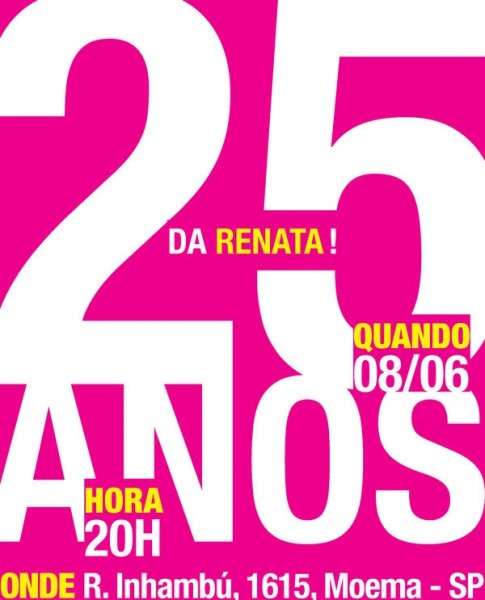 Convite De Aniversario 25 Anos 4 » Happy Birthday World