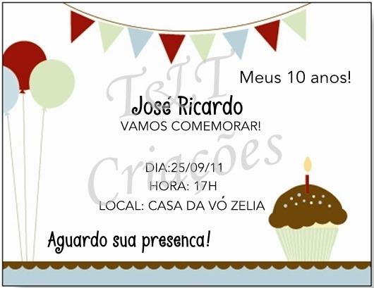 Convite De Aniversario De 10 Anos 1 » Happy Birthday World