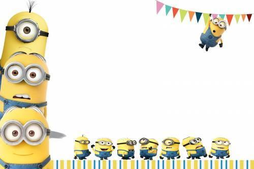 Convite De Aniversario Minions 4 » Happy Birthday World