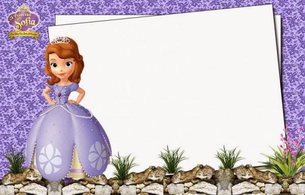 Convite De Aniversario Princesa Sofia Para Editar 4 » Happy