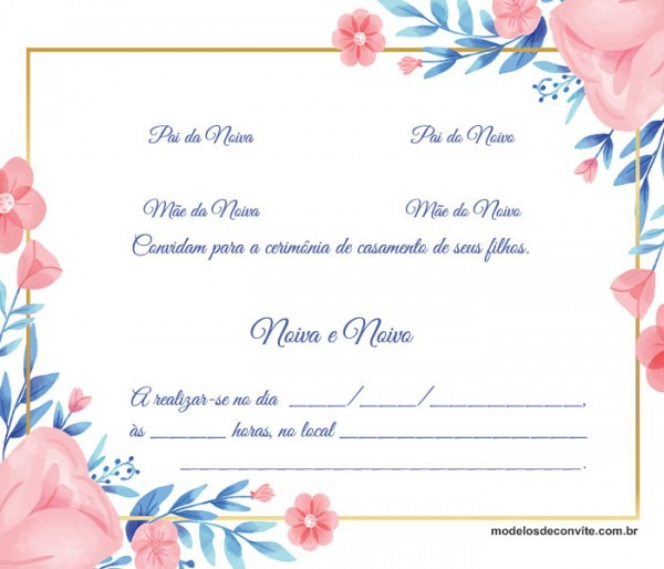 Convite De Casamento  120 Modelos Lindos Que Irão Te Ajudar Na