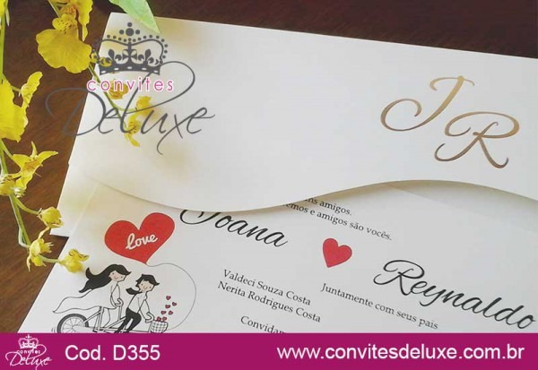Convite De Casamento Clássico E Elegante Com Monograma Dourado