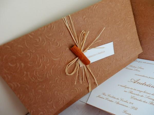 Convite De Casamento Rústico No Elo7