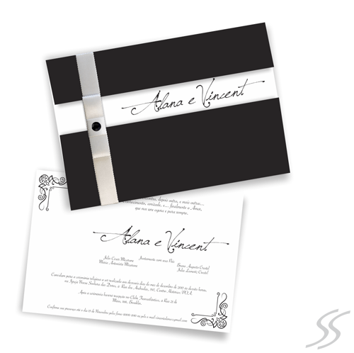 Convite De Casamento  Black Diamond