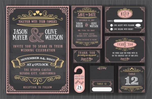 Convite De Casamento De Lousa
