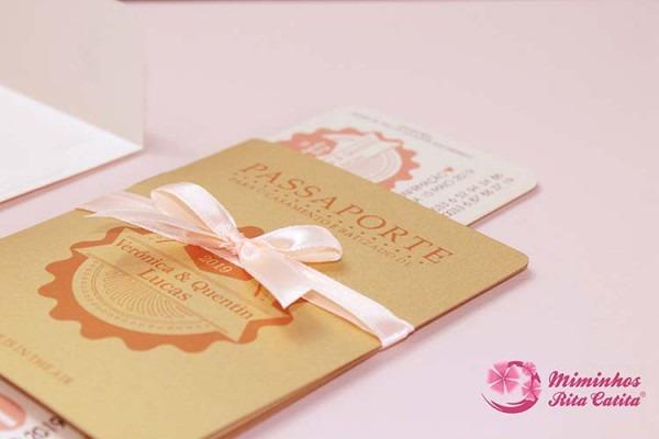 Convites Para Casamento Passaporte E Ticket