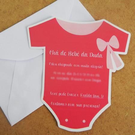 Convite De Chá De Bebê Body  Confira 20 Modelos! – Modelos De Convite
