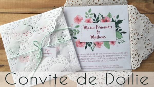 Como Fazer Convite De Casamento De Doilie