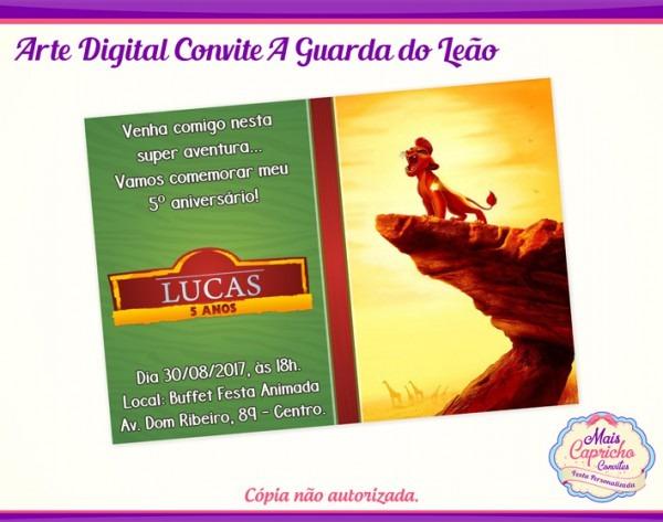 Convite Digital A Guarda Do Leão No Elo7