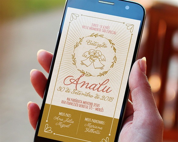 Convite Digital Batizado Whatsapp