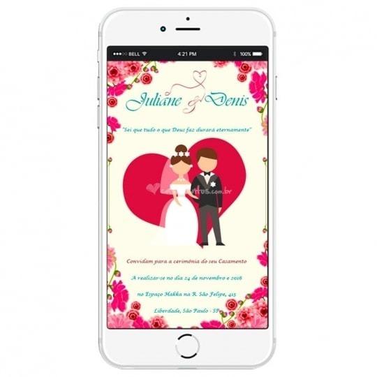 Convite Digital Casamento Facebook E Whatsapp Zap Zap