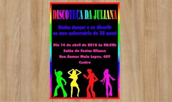 Convite Digital Discoteca No Elo7