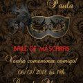 Convite Para Baile De Mascaras