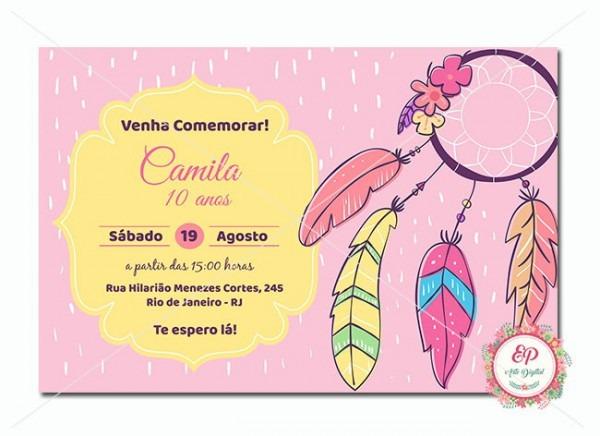 Convite Digital Filtro Dos Sonhos No Elo7