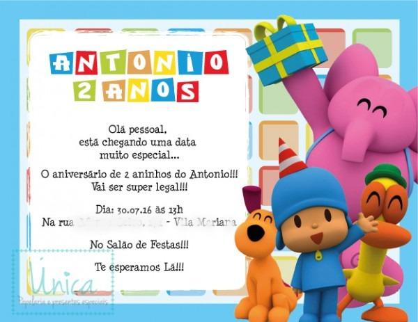 Convite Digital Turma Do Pocoyo