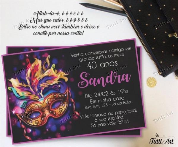 Convite Festa Carnaval