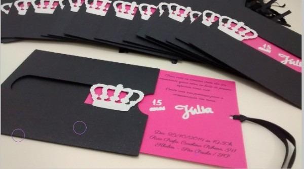 Convite Festa De 15 Anos Arquivo Digital Silhouette Cameo