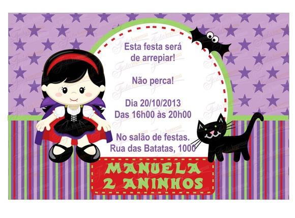 Convite Festa Meninas
