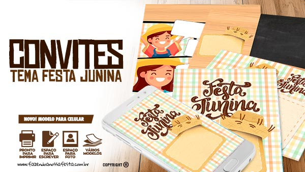 Convite Festa Junina Xadrez Tons Pastéis Para Editar E Imprimir