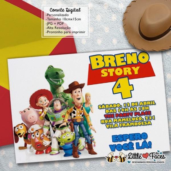 Convite Festa Toy Story Digital No Elo7