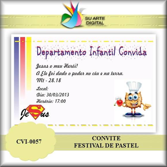 Convite Festival De Pastel