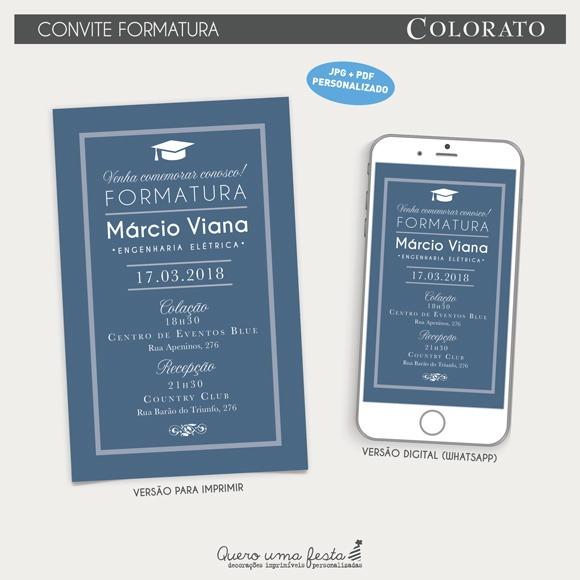 Convite Formatura Colorato