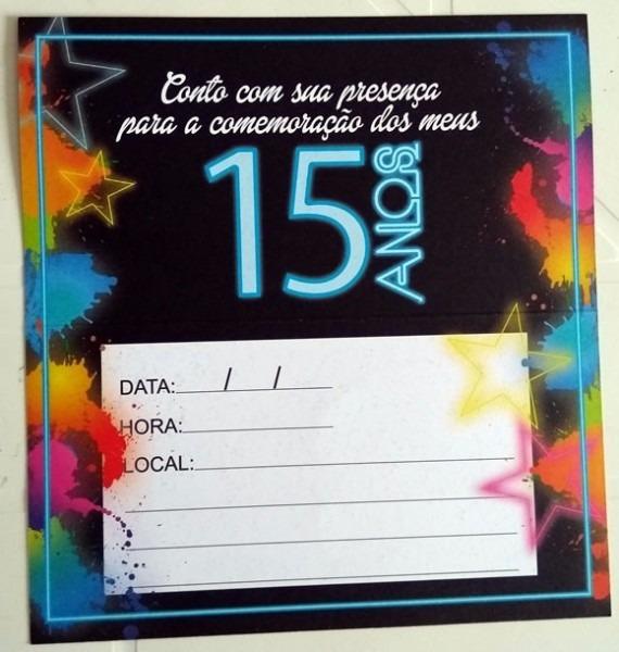 Convite Grande Aniversario 15 Anos Balada (10 Unidades)