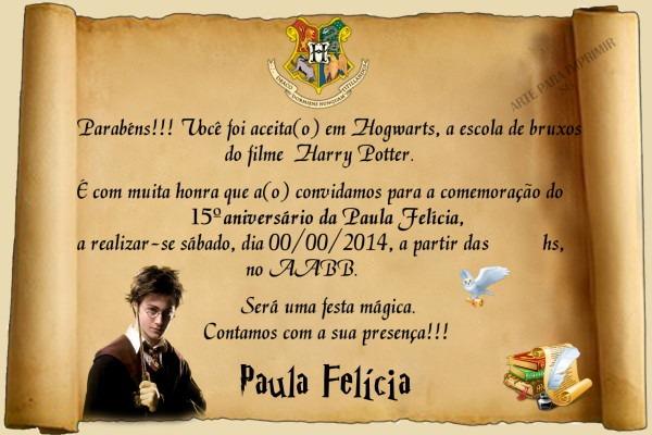 Convite Harry Potter 7 No Elo7