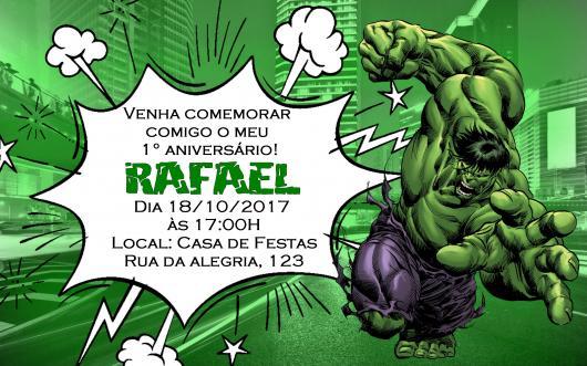 Convite Do Hulk  30 Ideias Fantásticas E Inspiradoras Para Sua Festa
