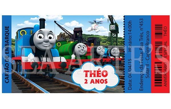Convite Impresso Thomas E Seus Amigos