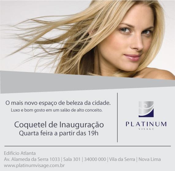 Coquetel De Inauguração Do Salão Platinum Visage