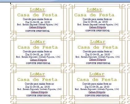 Convite Individual De Aniversario Para Imprimir 4 » Happy Birthday