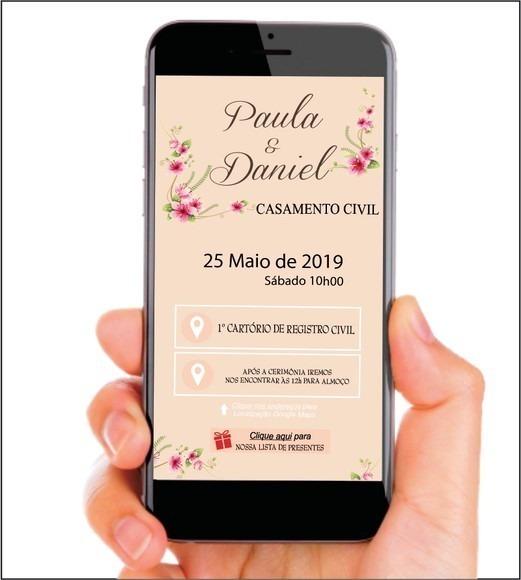 Convite Interativo Digital Casamento   Aniversario, Evento