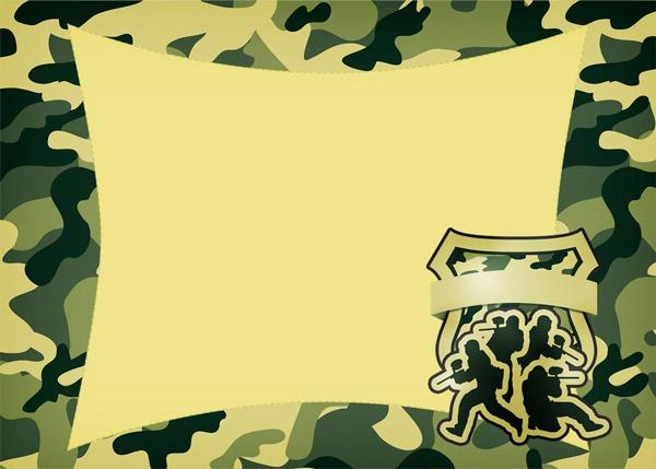 Kit Militar Camuflado Para Festa Infantil
