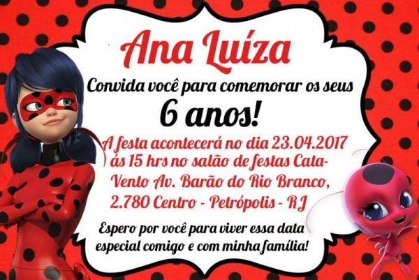 DecoraÇÃo De Festa Ladybug → Convites, Lembrancinhas
