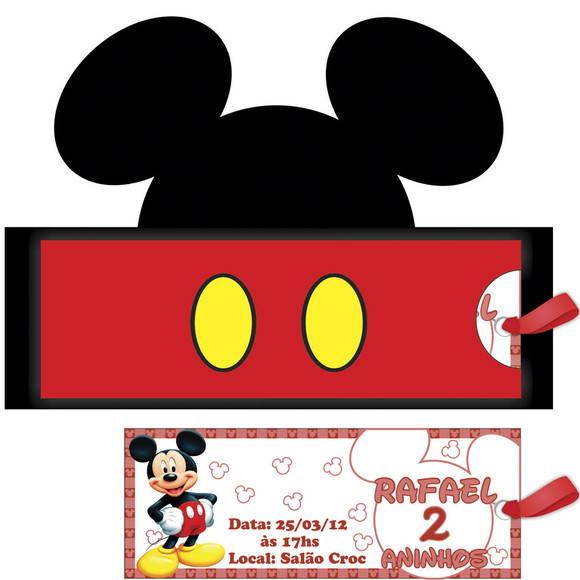 Convite Rosto Mickey No Elo7