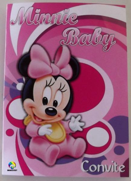 Convite Minnie Baby (30 Convites)