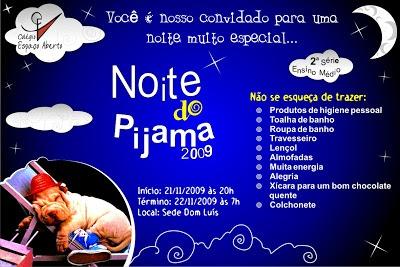 FaÇa O MÁximo Do Agora Diego Freire  Convite Noite Do Pijama