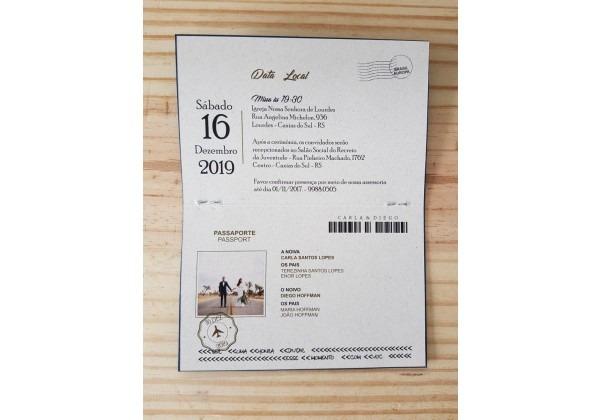 Convite Casamento Passaporte